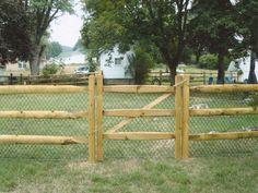 diy fence | How to Build a Split Rail Fence Gate