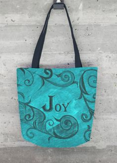 VIDA Tote Bag - Aqua tote by VIDA
