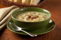 Potato Leek Soup - Warm up the family with this creamy and satisfying soup.