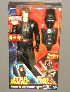 Star Wars Anakin to Darth Vader Talking Action Figure Color Changing Lightsaber