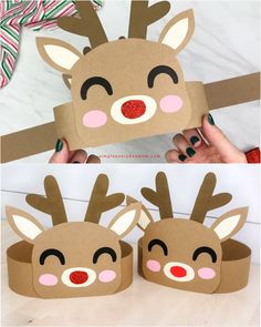Reindeer Headband Craft For Kids - Christmas Handicrafts - .-Reindeer Headband Craft For Kids – Weihnachtsbasteleien – Reindeer Headband Craft For Kids – Christmas crafts … - Kids Crafts, Toddler Crafts, Preschool Crafts, Craft Kids, Kids Diy, Decor Crafts, Family Crafts, Summer Crafts, Christmas Activities For Kids