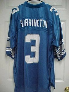 e314cfb3cee JOEY HARRINGTON 3 Detroit Lions Men Blue 100% Nylon Football Jersey L Reebok  #Reebok