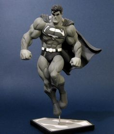 McGuiness Superman by davjames - great black and white/grayscale sculpt