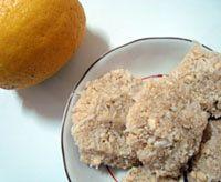 Raw food cookie recipe - Raw food diet dessert recipe - Lemon cashew coconut cookies - Easy raw vegan cookies in the dehydrator