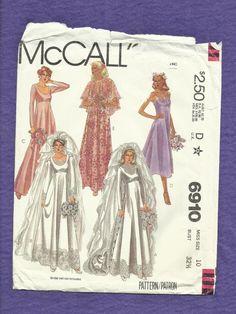 Vintage 1979 McCalls 6910 Wedding Dresses