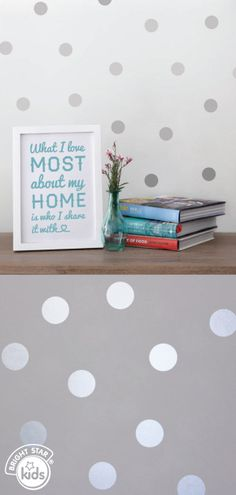 Personalise any blank wall with these gorgeous Dotty Wall Decals. They come in 19 different colours, allowing you to match most colour schemes. See more at: http://www.brightstarkids.com.au/Dotty-Wall-Decals.aspx?p3234 #polka #dotty #decorating