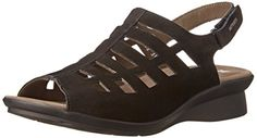 Mephisto Women's Peggie Dress Sandal, Black Bucksoft, 10 M US -- You can get additional details at the image link.