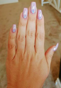 My pink unicorn holographic nails! Polish Nails Gilbert, AZ