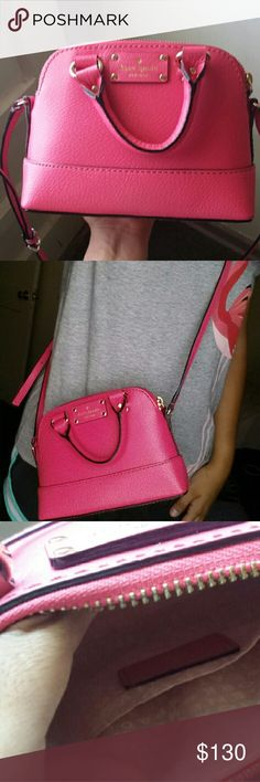 Pink small Kate spade cross body Super cute summer cross body by Kate spade only has been used once. In perfect condition looks brandnew. kate spade Bags