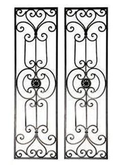 Diangelo Tuscan Mediterranean Wrought Iron Wall Grille Set #NA