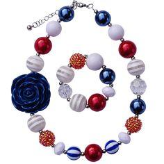 Americana Chunky Jewelry Set