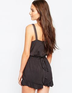 Shakuhachi black lace cami dress forever
