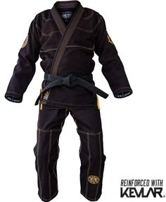 War Tribe Kevlar Reinforced GI in Black With Gold Accents for Jiu Jitsu Judo Training and Competition Introducing War Tribe Gear's Kevlar Series Gi with exclusive patent pending technology. We have sp