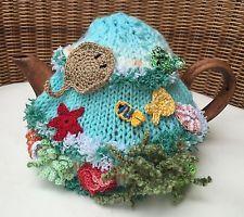 NEW  Handmade Tea Cozy Beautiful Ocean Coral Reef  From Ukrainian Designer