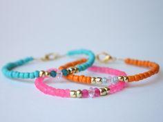 DIY Easy Glass Bead Bracelets