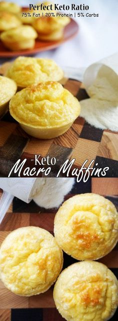 These Keto Muffins have the perfect macronutrient ratio for a ketogenic diet!