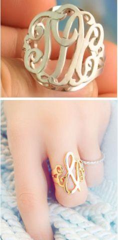 Custom Monogram Ring ♥ L.O.V.E. {gold or silver available}