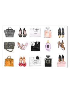 Fashion Chart (Canvas) from Oliver Gal Canvas Art on Gilt
