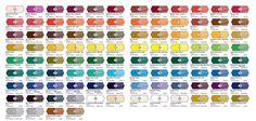 Liquitex Heavy Body Acrylic Paint - Colour Chart. | Craft Ideas ...