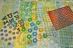 LuAnn Kessi: Gelli Printing.........Found Objects FUN printing with FOUND OBJECTS!
