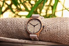 A unisex watch – made from carbonated bamboo, with a beige leather single strap – by sustainable watchmakers Bamboo Revolution UK Buy Bamboo, Shops, Black Singles, Buy Shoes, Cool Watches, Wood Watch, Leather Craft, Fashion Accessories, Beige