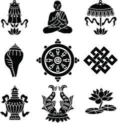 Buddhist symbols Mais