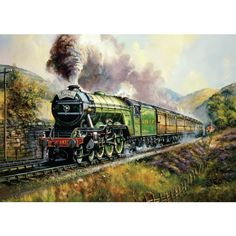 """""""Flying Scotsman"""" - Anybody who appreciates #trains and #vintage engines is bound to want this #jigsaw.This locomotion represented the LNER at the #BritishEmpire Exhibition at Wembley in 1924 and 1925."""