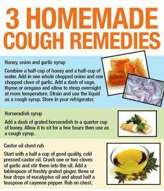 Cough remedies Cold and flu season is right around the corner. Never know when this might come in handy.