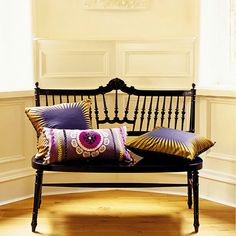 Pom-pom edge pillows