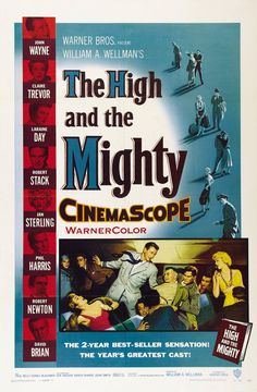 """The High And The Mighty"" movie poster, 1954."