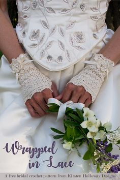 Fingerless Lace Crochet Bridal Gloves: FREE crochet pattern. There's something special about lace gloves that evoke a feeling of elegance.