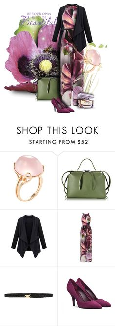 """In flora"" by kseniz13 ❤ liked on Polyvore featuring Goshwara, Jil Sander, Coast, Cole Haan, outfit, purple, Elegant, floralprint and jumpsuit"