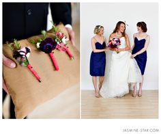 Foundation of Love : Styled Wedding Shoot. @Micaela Brokaw look at the middle boutonniere, it is my flower.... can you do this exact one but with gray ribbon maybe? or something similar??!!
