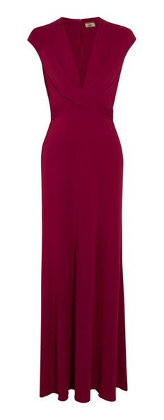 ISSA Silk-Jersey Maxi Dress