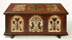 Chest - 18th century, United States, Pennsylvania, Berks County - Painted pine - 22 1/4 x 50 1/2 x 23 in. (56.5 x 128.3 x 58.4 cm)