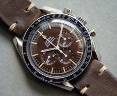 Vintage OMEGA Speedmaster Pro Calibre 321 Moonwatch Reference 105.012-66CB With Chocolate Dial
