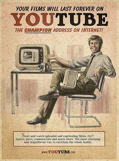 Hoe zouden de grote sociale media merken anno 2011 er enkele decennia geleden uit hebben gezien op posters, leaflets en emailleborden?...