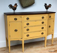chalk painted furniture ideas   ... with Annie Sloan Chalk Paint in Arles with clear and dark waxes