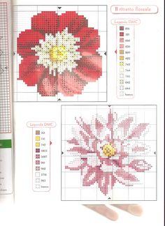 Des fleurs pour la nappe (1) Big Flowers, Vintage Flowers, Cross Stitch Flowers, Cross Stitch Patterns, Spring Ahead, Flower Patterns, Creative Design, Illustration, Easy Cross