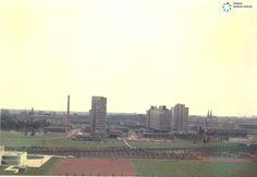 Uitzicht vanuit het Diaconessenhuis in oktober 1967 richting centrum #Eindhoven. #maximamedischCentrum #MMC