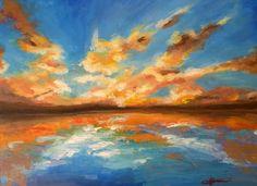 Rozprávač: Zlaté oblaky Cloud Art, Clouds, Sky, Deviantart, Art Prints, Drawings, Inspiration, Sunsets, Paintings