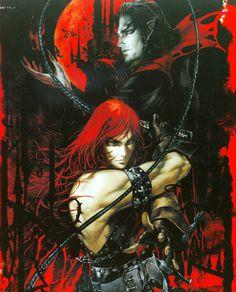 Simon Belmont and Dracula - Ayami Kojima (Castlevania) Dracula Castlevania, Castlevania Anime, Belmont Castlevania, Gothic Horror, Arte Horror, Gothic Art, Castlevania Wallpaper, Anime Manga, Anime Art