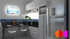 Projeto de Interiores para otimização e organização espacial de cozinha, em Porto Ferreira