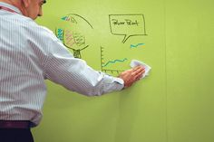 dry-erase paint by Sherwin-Williams  (there is a stupid auto play video beneath the fold)