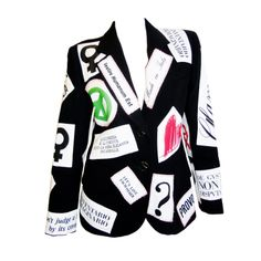 "Moschino Couture Patchwork""You make me Haute"" Jacket Blazer 