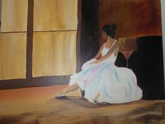 The Sad Ballerina - something different to her usual colourful style Color Of Life, Colorful Fashion, Ballerina, Sad, Colour, Painting, Style, Ballet Flat, Color