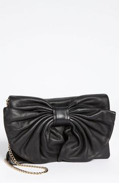 RED Valentino 'Bow' Leather Clutch available at #Nordstrom