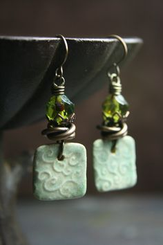 growing on me  green tones  treasures for your by TesoriTrovati, $35.00