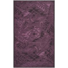 Shop for Safavieh Palazzo Black/ Purple Over-dyed Chenille Rug (5' x 8'). Get free shipping at Overstock.com - Your Online Home Decor Outlet Store! Get 5% in rewards with Club O!