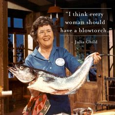 Julia Child - You have to love her! Confession: my husband and I enjoy watching old Julia Child re-runs.and then trying out a recipe together. (He beats me hands-down when it comes to making her omelettes, however! Julia Child Quotes, Quotes For Kids, Happy Birthday Julia, Think Food, Home Chef, Thai Style, Cooking Tips, Basic Cooking, Food Tips